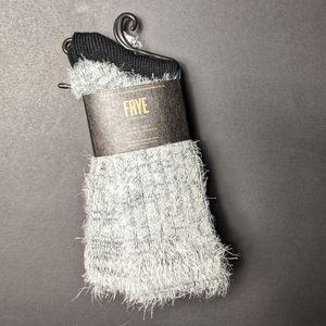 Frye fuzzy boot socks
